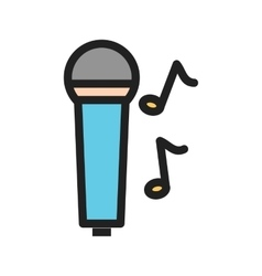 Singing on Mic vector image