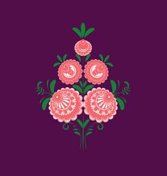 Slavic folk traditional floral ornament stylized vector
