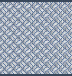 Snowy paths seamless woolen knitted pattern vector