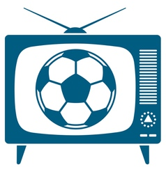 Soccerball in retro TV vector