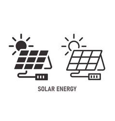 solar energy icon on white background vector image