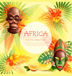 south paradise african frame vector image