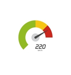 Speedometer icon isolated on white vector image