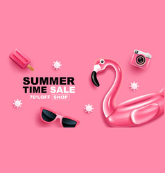 Summer sale banner layout design vector