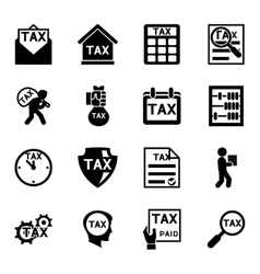 Tax and finance icons set vector