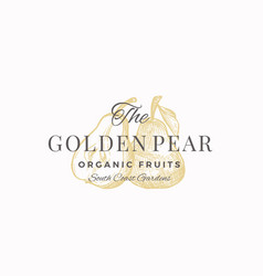 the golden pear abstract sign symbol or vector image
