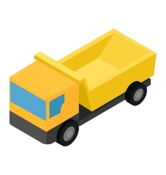 Truck isometric 3d icon vector image