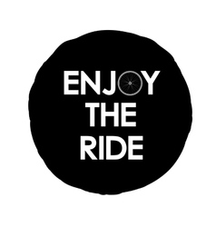 with Enjoy the ride text logo vector image