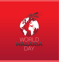 world malaria day logo icon design vector image