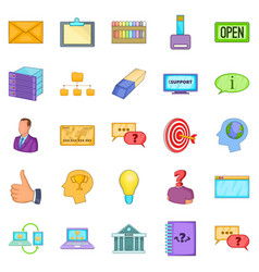 creative advertising icons set cartoon style vector image vector image