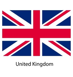 Flag of the country united kingdom vector image