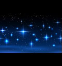 night sky horizontal seamless pattern vector image vector image