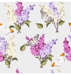 Vintage lilac seamless vector image