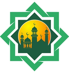 Silhouette of the mosque vector image vector image