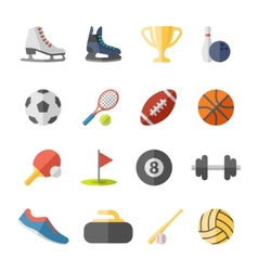 sport flat icons vector image vector image