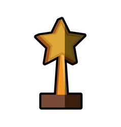 trophy star win image shadow vector image vector image