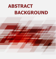 abstract red geometric overlapping design vector image vector image
