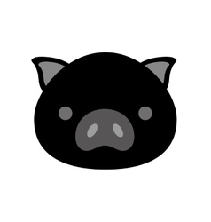 cute pig isolated icon vector image vector image