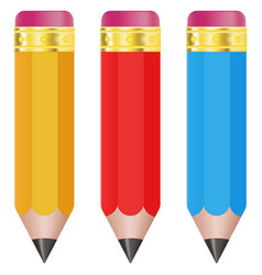 pencils colored set vector image vector image