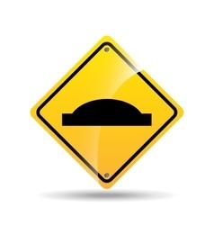 road sign uneven icon design vector image