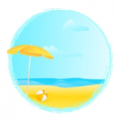 summer banner with umbrella vector image vector image