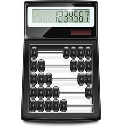 electronic calculator abacus vector image