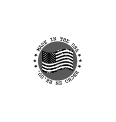Grunge made in USA stamp with flag vector image vector image