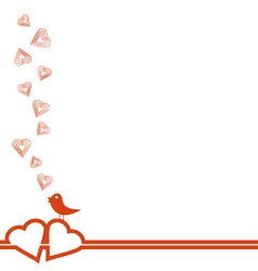 Happy Valentines Day Card with Flying Hearts vector image vector image