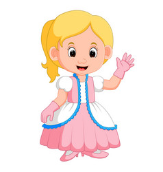 kids girl princes cartoon vector image vector image