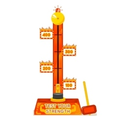 Strength tester Test your strength amusement game vector image