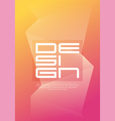 a4 size abstract geometric minimalist cover design vector image