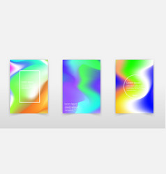 abstract colorful liquid and holographic colors vector image