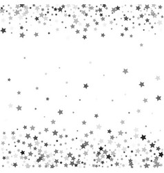 Abstract pattern of random falling silver stars vector