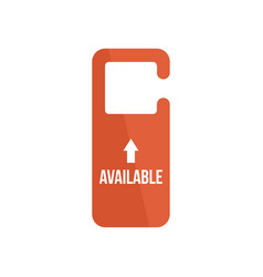 available door tag icon flat style vector image