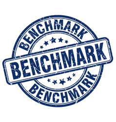 Benchmark blue grunge stamp vector