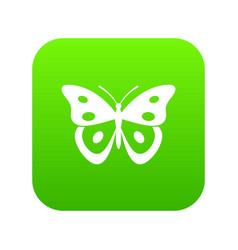 Butterfly pierid icon digital green vector