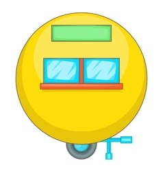 Camping trailer icon cartoon style vector