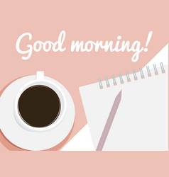 Card good morning vector