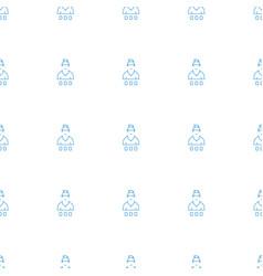 Casino girl icon pattern seamless white background vector