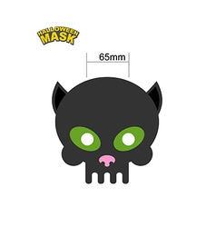 Cat mask Skull for Halloween Honey mask for vector image