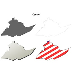 Centre Map Icon Set vector image