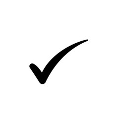 check mark symbol black on white vector image