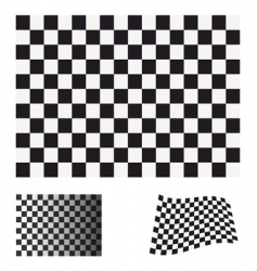 Checkered flag set vector