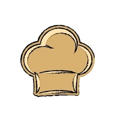 Chef hat silhouette vector