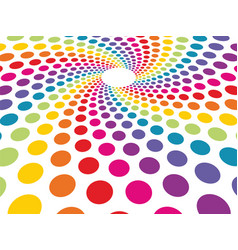 circular background composed of colorful dots in vector image