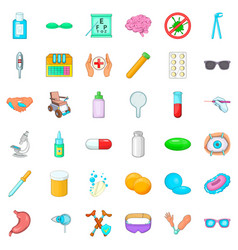 Clinical assessment icons set cartoon style vector