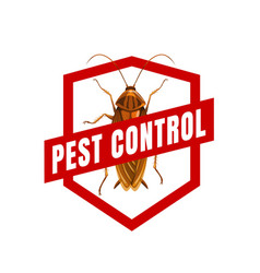 Cockroach sign pest control icon vector