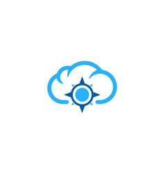 Compass weather and season logo icon design vector