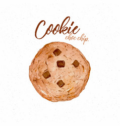 Cookie hand draw sketch watercolor vector
