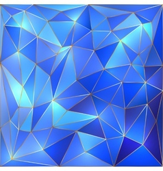 crystal blue and gold lattice background vector image